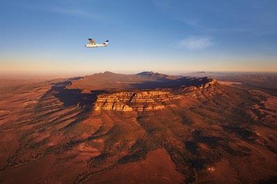 Arkaba flight over Wilpena Pound