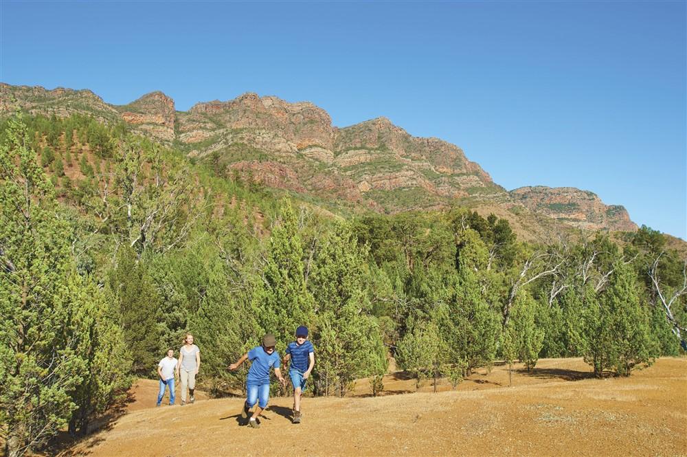Explore Arkaba's wilderness on foot
