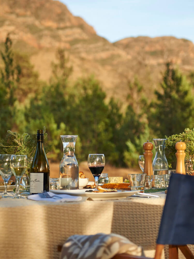 Dining outdoors at Arkaba
